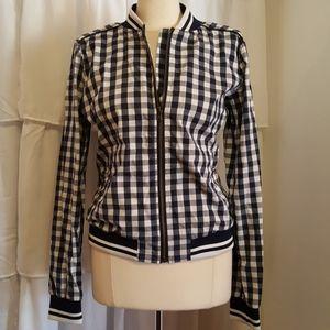 Merona Navy and White checkered jacket